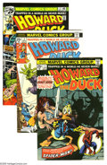 Bronze Age (1970-1979):Humor, Howard the Duck Group (Marvel, 1976-77) Condition: Average VF/NM.Fifteen-issue group lot includes #1 (Spider-Man crossover,... (15Comic Books)