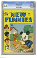 New Funnies #92 File Copy (Dell, 1944) CGC NM 9.4 Cream to off-white pages. This is currently the highest grade awarded...