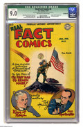 Golden Age (1938-1955):Non-Fiction, Real Fact Comics #6 (DC, 1947) CGC Qualified VF/NM 9.0 Off-white towhite pages. Origin and first appearance of Tommy Tomorr...