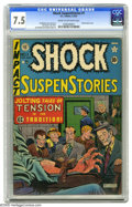 Golden Age (1938-1955):Horror, Shock SuspenStories #1 (EC, 1952) CGC VF- 7.5 Cream to off-whitepages. The classic electrocution cover by Al Feldstein is j... (1 )