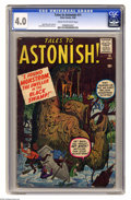 Silver Age (1956-1969):Horror, Tales to Astonish #11 (Marvel, 1960) CGC VG 4.0 Cream to off-whitepages. Jack Kirby cover. Kirby, Steve Ditko, and Don Heck... (1 )
