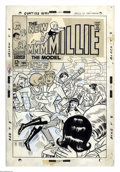 Original Comic Art:Covers, Stan Goldberg - Millie the Model #160 Cover Original Art (Marvel,1968). The message is perfectly clear to everyone but Mill... (2items)