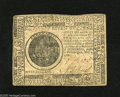 Colonial Notes:Continental Congress Issues, Continental Currency May 9, 1776 $7 Very Fine. The vertical foldsare stronger than the lateral folds on this mid-grade Cont...