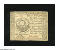 Colonial Notes:Continental Congress Issues, Continental Currency September 26, 1778 $30 Choice New. A very wellprinted Continental with bold signatures and serial numb...