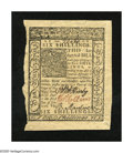 Colonial Notes:Delaware, Delaware January 1, 1776 6s Choice New. An enormously marginedDelaware note which has come from a cut sheet. The print qua...
