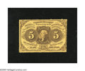 Fractional Currency:First Issue, Fr. 1228 5c First Issue Very Choice New. A fresh and bright exampleof this perforated first issue type that has bold ink co...