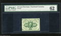 Fractional Currency:First Issue, Fr. 1241 10c First Issue PMG Uncirculated 62 A scarce no monogram perforated note that has good ink colors but with a tightl...