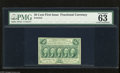 Fractional Currency:First Issue, Fr. 1312 50c First Issue PMG Choice Uncirculated 63 A well margined first issue note that appears very nice but with the PMG...