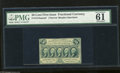 Fractional Currency:First Issue, Fr. 1313SP 50c First Issue Narrow Margin Face Specimen PMG Uncirculated 61 A bright yet tightly margined first issue face sp...