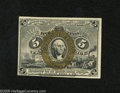 Fractional Currency:Second Issue, Fr. 1234 5c Second Issue Choice New. The bronze oval squarely surrounds the portrait on this 5 Cent note that has clear surc...