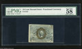 Fractional Currency:Second Issue, Fr. 1244 10c Second Issue PMG Choice About Uncirculated 58 A pretty nice looking note for the grade that is fairly well marg...