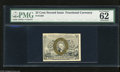 "Fractional Currency:Second Issue, Fr. 1284 25c Second Issue PMG Uncirculated 62 A very nice example of this scarcer second issue variety with ""18-63"" surcharg..."