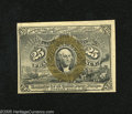 Fractional Currency:Second Issue, Fr. 1284 25c Second Issue Choice About New. Fr. 1284s are 25 times scarcer than Fr. 1283s. This example has a pinhole within...