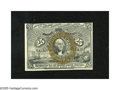 """Fractional Currency:Second Issue, Fr. 1285 25c Second Issue Choice New. An utterly original example of this tougher variety with """"A-18-63"""" surcharges on the b..."""
