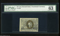 Fractional Currency:Second Issue, Fr. 1286 25c Second Issue PMG Choice Uncirculated 63 This is a bright and vibrant example of this scarcer variety which is w...