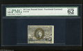 Fractional Currency:Second Issue, Fr. 1318 50c Second Issue PMG Uncirculated 62 Presumably PMG graded this note 62 due to the trimmed left and bottom margins ...
