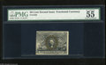 Fractional Currency:Second Issue, Fr. 1322 50c Second Issue PMG About Uncirculated 55 A very attractive example of this scarce fiber paper note that has recei...