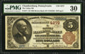 National Bank Notes:Pennsylvania, Chambersburg, PA - $5 1882 Brown Back Fr. 471 The Valley NB Ch. #4272. ...
