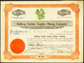 Obsoletes By State:Arizona, Arizona Territory Incorporated - Goldfield, NV- Bullfrog GoldenSceptre (sic) Mining Company 100 Shares Stock Certificate Fe...
