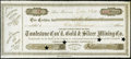 Obsoletes By State:Arizona, Tombstone, A(rizona) T(erritory)- Tombstone Con'd. Gold &Silver Mining Co. 1000 Shares Stock Certificate July 7, 1881. ...