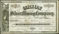 Obsoletes By State:Arizona, (Tucson), A(rizona) T(erritory)- Orion Silver Mining Company 100Shares Stock Certificate Dec. 29, 1879. ...