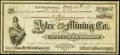Obsoletes By State:Arizona, Aztec, Arizona Territory- Aztec Gold & Silver Mining Co. 50Shares Stock Certificate Dec. 26, 1877. ...
