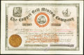 Obsoletes By State:Arizona, Black Hills, Arizona (Territory)- Copper Belt Mining Company 1000Shares Stock Certificate Oct. 4, 1884. ...