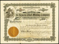 Obsoletes By State:Arizona, Sonora, Arizona Territory- Sonora Chief Mining Company 200 SharesStock Certificate Mar. 20, 1905. ...