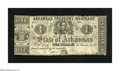 Obsoletes By State:Arkansas, Little Rock, AR $1 Nov. 15, 1862 Criswell 49a. This scarcer Ace is printed on the back of a bill of exchange. Edge notches a...