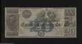 Obsoletes By State:Louisiana, New-Orleans, LA- Canal & Banking Co. $20 18__. This is an ornate remainder from antebellum days that is printed on both side...