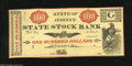 Obsoletes By State:Ohio, Logansport, IN- State Stock Bank $100 18__. This is a fantasy noteprinted probably in the early 1900s. They are probably ak...