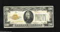 Small Size:Gold Certificates, Fr. 2402 $20 1928 Gold Certificate. Very Fine.. This $20 Gold has escaped edge tears and pinholes....