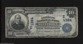 National Bank Notes:Maryland, Baltimore, MD - $10 1902 Date Back Fr. 616 The Citizens NB Ch. #(E)1384. Some time as a wallet piece produced three rou...