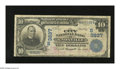 National Bank Notes:Tennessee, Knoxville, TN - $10 1902 Plain Back Fr. 626 The City NB Ch. #(S)3837. The red signatures have faded partly away on this...