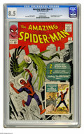 Silver Age (1956-1969):Superhero, The Amazing Spider-Man #2 (Marvel, 1963) CGC VF+ 8.5 White pages.Spidey's second issue features the first appearances of th...