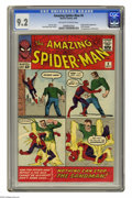 Silver Age (1956-1969):Superhero, The Amazing Spider-Man #4 (Marvel, 1963) CGC NM- 9.2 Off-white towhite pages. The sinister Sandman makes his first appearan...