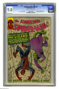 "Silver Age (1956-1969):Superhero, The Amazing Spider-Man #6 (Marvel, 1963) CGC VF/NM 9.0 Cream to off-white pages. Dr. Curt Connors appeared in the movie ""Spi..."