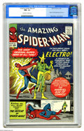 Silver Age (1956-1969):Superhero, The Amazing Spider-Man #9 (Marvel, 1964) CGC NM+ 9.6 Off-white to white pages. We get to see the best copies of this title m...