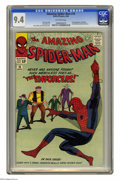 Silver Age (1956-1969):Superhero, The Amazing Spider-Man #10 (Marvel, 1964) CGC NM 9.4 Off-whitepages. Big Man and the Enforcers make their first appearance....