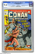 "Bronze Age (1970-1979):Superhero, Conan the Barbarian #3 (Marvel, 1971) CGC NM+ 9.6 White pages.Barry Smith, back in his pre-""Windsor"" days, drew what many c..."