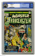 Bronze Age (1970-1979):Horror, Frankenstein #1 Pacific Coast pedigree (Marvel, 1973) CGC NM 9.4Off-white pages. Mike Ploog cover and art. Overstreet 2005 ...