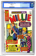 Silver Age (1956-1969):Romance, Millie the Model Annual #5 (Marvel, 1966) CGC NM+ 9.6 Off-whitepages. Stan Goldberg cover and art. Overstreet 2005 NM- 9.2 ...