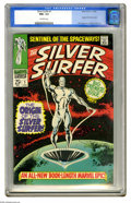 Silver Age (1956-1969):Superhero, The Silver Surfer #1 (Marvel, 1968) CGC NM+ 9.6 Off-white pages. The Sentinel of the Spaceways, the Silver Surfer stars ...