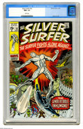 Bronze Age (1970-1979):Superhero, The Silver Surfer #18 (Marvel, 1970) CGC NM+ 9.6 White pages. JackKirby returns to Marvel, and provided the cover and inter...