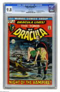 Bronze Age (1970-1979):Horror, Tomb of Dracula #1 (Marvel, 1972) CGC NM/MT 9.8 White pages. Thisissue marked the first appearance of Marvel's Dracula, and...