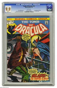 Tomb of Dracula #10 (Marvel, 1973) CGC MT 9.9 White pages. Here's the only 9.9 yet certified of this key Bronze Age book...