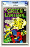 Silver Age (1956-1969):Science Fiction, Green Lantern #48 (DC, 1966) CGC NM+ 9.6 White pages. This issue's got the second appearance of Keith Kenyon, who becomes Go...