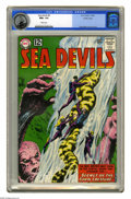 Silver Age (1956-1969):Superhero, Sea Devils #9 Pacific Coast pedigree (DC, 1963) CGC NM+ 9.6 Whitepages. Russ Heath drew this issue's grey tone cover and th...
