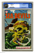 Silver Age (1956-1969):Adventure, Sea Devils #16 Pacific Coast pedigree (DC, 1964) CGC NM 9.4 Off-white to white pages. Russ Heath drew this issue's cover, an...
