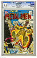 Silver Age (1956-1969):Superhero, Showcase #40 The Metal Men - Pacific Coast pedigree (DC, 1962) CGCNM+ 9.6 Off-white to white pages. This isn't just the hig...